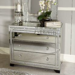 Diamond Glitz Chest of 3 Drawers