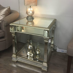 Athens Gold Mirrored End Table