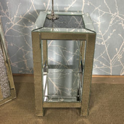 Diamond Crush Mirrored Large Telephone Table