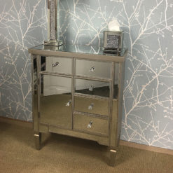 Georgia Mirrored 5 Drawer 1 Door Cabinet