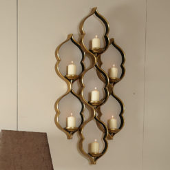 Sahara Gold 7 Tealight Wall Sconce