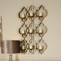 Sahara Gold 9 Tealight Wall Sconce