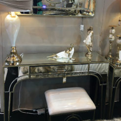 Sahara Gold Mirrored 1 Drawer Console Table