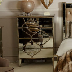 Sahara Gold Mirrored 4 Drawer Chest