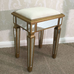 Venetian Gold Mirrored Stool