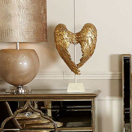 Gold Angel Wings Sculpture