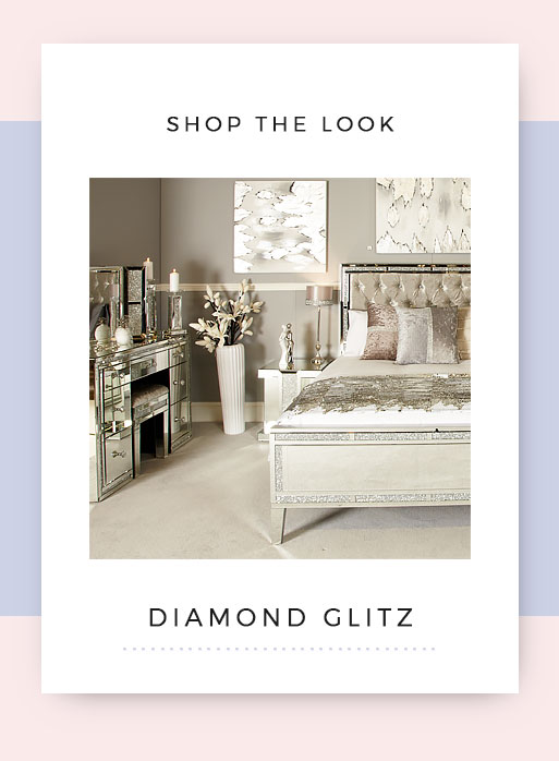 Shop the look Diamond Glitz Mirrored Bedroom Furniture