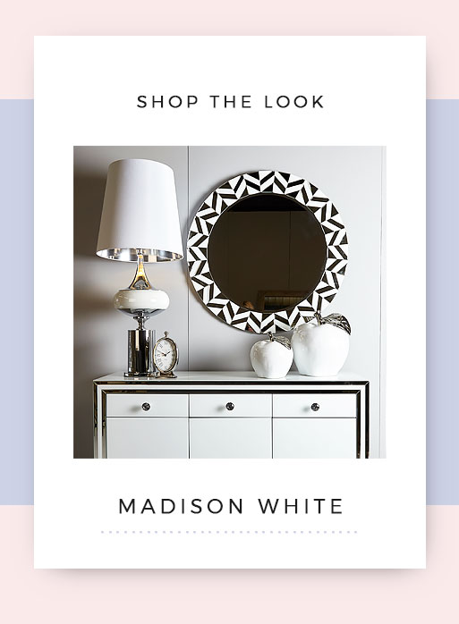 Shop the look Madison White Mirrored Hallway Furniture