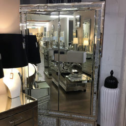 Diamond Glitz Mirrored 2 Door 4 Drawer Wardrobe