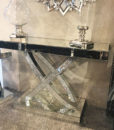 Tiffany Mirrored Double Ring Console Table
