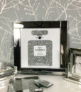 Perfume Bottle Mirrored Picture Frame Wall Art